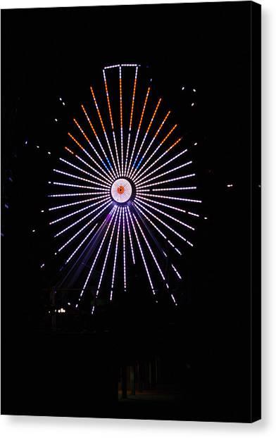 Ferris Wheel Santa Canvas Print