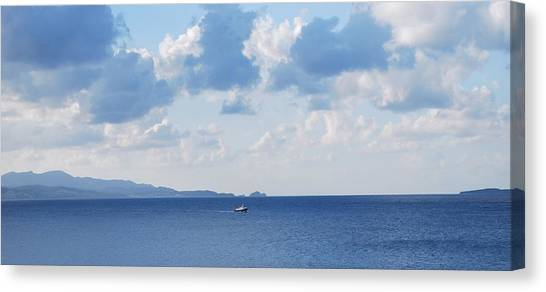Ferry On Time Canvas Print