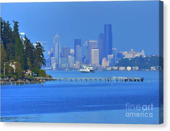 Ferry Ride In Seattle Canvas Print