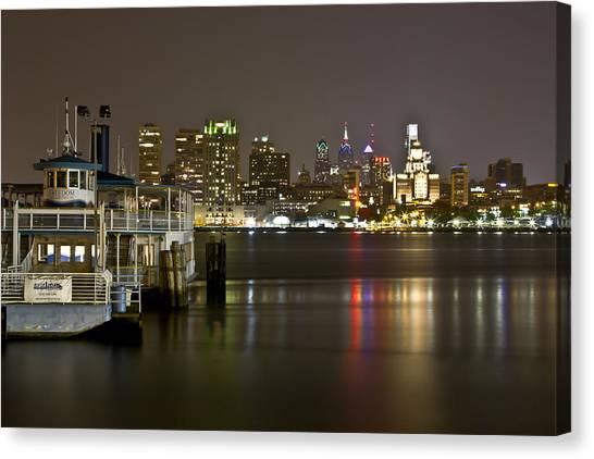 Ferry To The City Of Brotherly Love Canvas Print