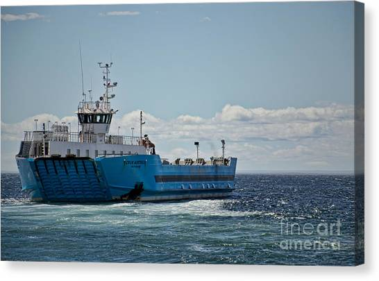 Ferryboat In Chilean Waters Canvas Print