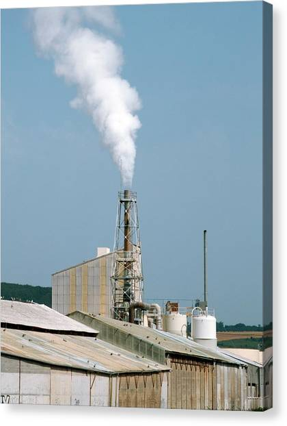 Fertiliser Factory Smokestack Canvas Print by Alex Bartel