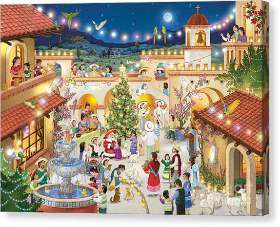 Festival Espanol De Navidad Canvas Print