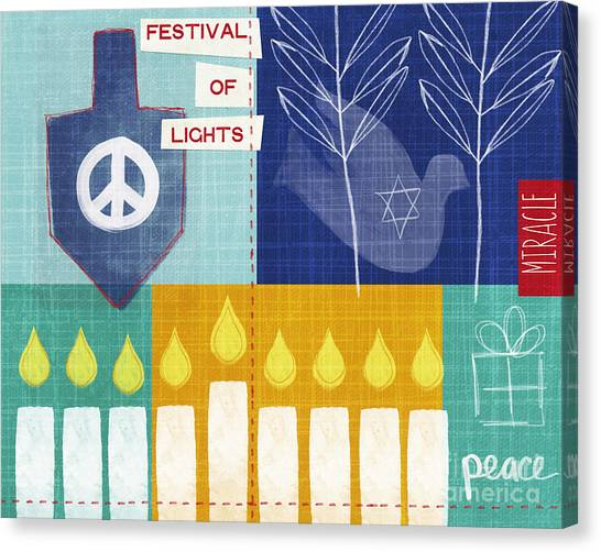 Dove Canvas Print - Festival Of Lights by Linda Woods