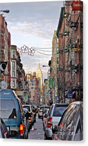 Festive Nyc Canvas Print