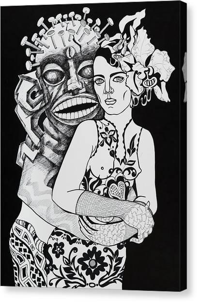 Fetish Girl Canvas Print