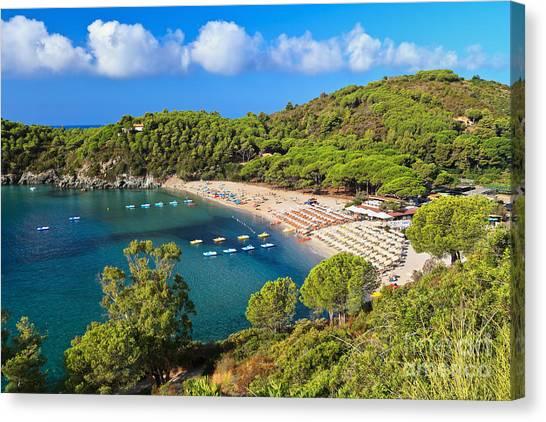 Fetovaia Beach - Elba Island Canvas Print