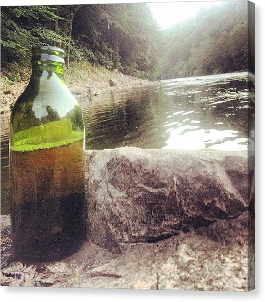 Lager Canvas Print - Few Beers By The River.  #river #summer by Jack Powell
