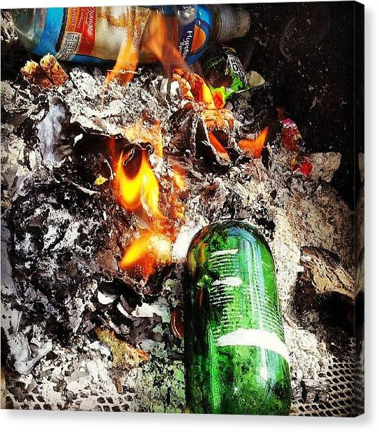 Lager Canvas Print - Few Beers Round A Fire In The Sun by Jack Powell