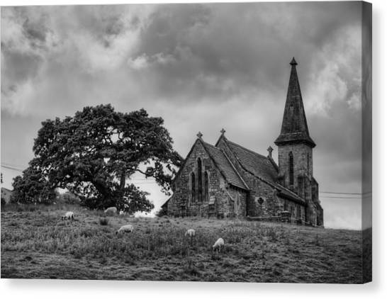 Fewston Church And Sheep Canvas Print