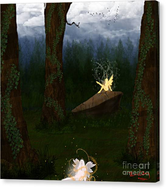 Fey Forest Canvas Print