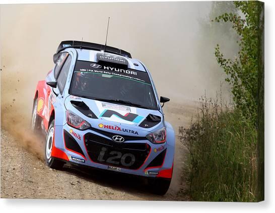 Fia World Rally Championship Poland - Shakedown Canvas Print by Massimo Bettiol