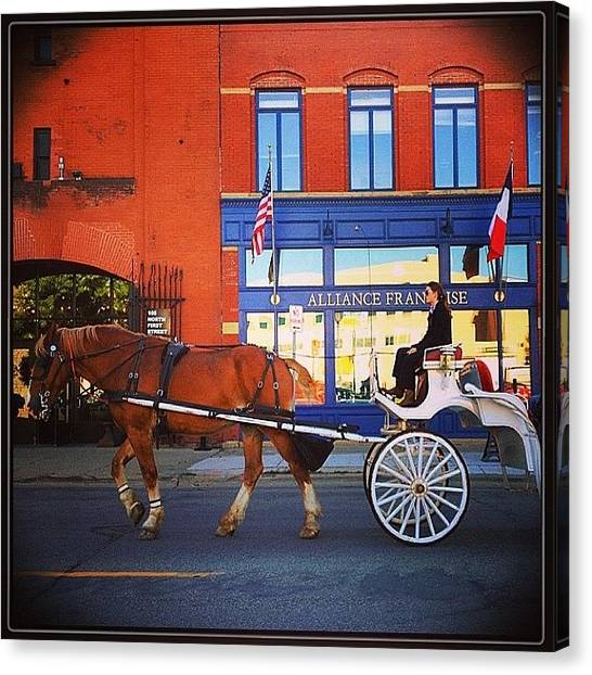 France Canvas Print - Fiacre (hansom Cab). #minneapolis by Heidi Hermes