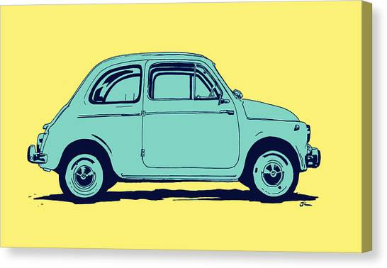 Pop Art Canvas Print - Fiat 500 by Giuseppe Cristiano
