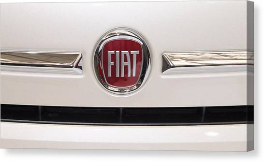 Fiat Logo Canvas Print