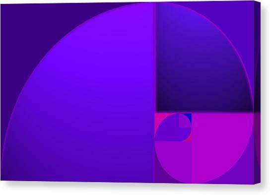 Fibonacci Blue Canvas Print