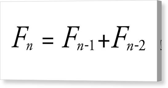 Fibonacci Canvas Print - Fibonacci Sequence Equation by Science Photo Library