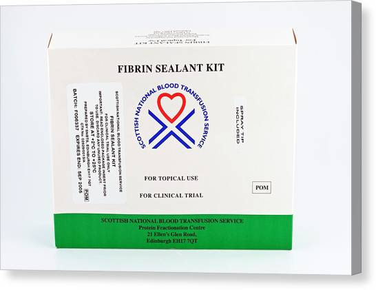 Fibrin Sealant Kit Canvas Print by Antonia Reeve/science Photo Library