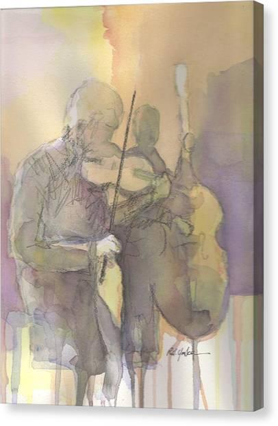 Bluegrass Canvas Print - Fiddle N' Bass  by Robert Yonke