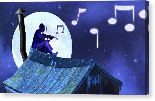 Jewish Painter Canvas Print - Fiddler On The Roof by Steve Dininno