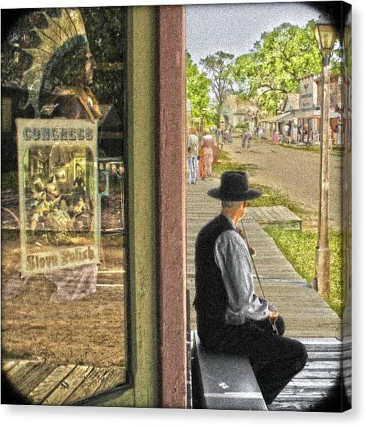 Fiddler On The Street Canvas Print