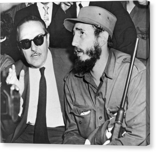 Cuba Canvas Print - Fidel Castro And Urrutia by Underwood Archives