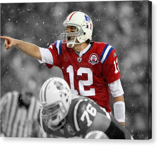 Patriot League Canvas Print - Field General Tom Brady  by Brian Reaves
