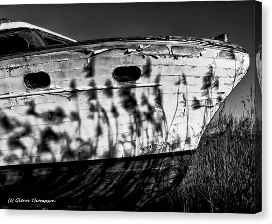Field Of Boats Canvas Print by Glenn Thompson