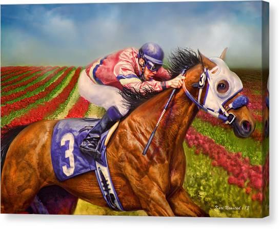 Field Of Dreams Canvas Print by Kari Nanstad