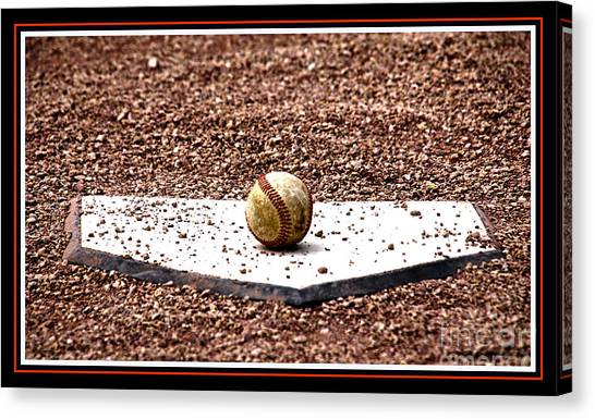 Ty Cobb Canvas Print - Field Of Dreams The Ball by Susanne Van Hulst