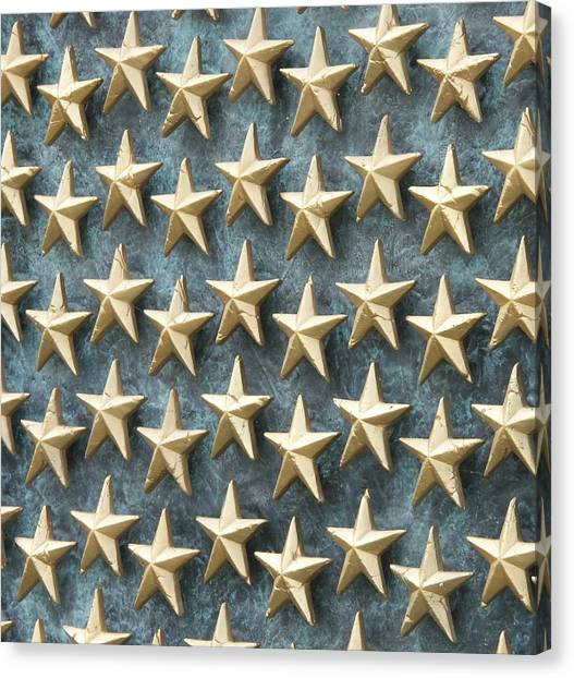 Field Of Golden Stars Canvas Print by Smanter