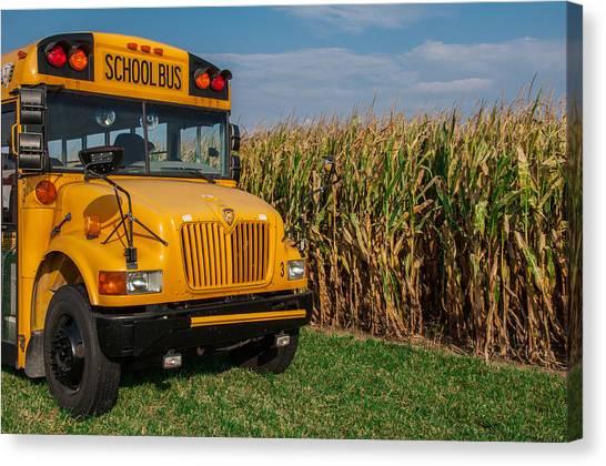 Corn Maze Canvas Print - Field Trip by Gene Sherrill