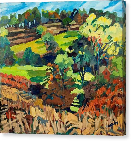 Fields In Autumn Canvas Print