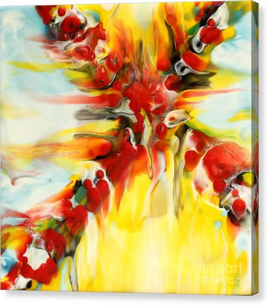 Fierce Cross Encaustic Canvas Print