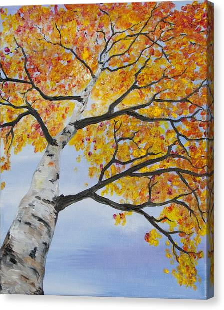 Fiery Aspen Canvas Print