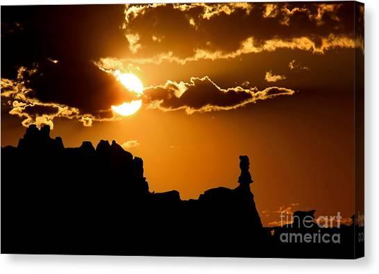 Fiery Desert Sky Canvas Print