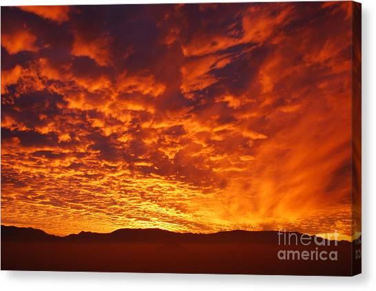 Fiery Sky Canvas Print by Susan Hernandez