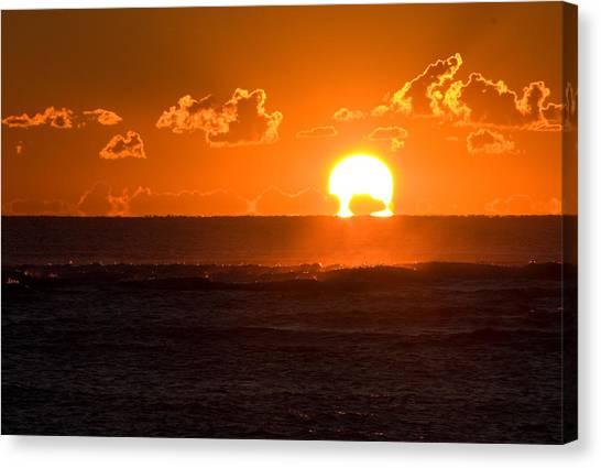 Fiery Sunrise Canvas Print