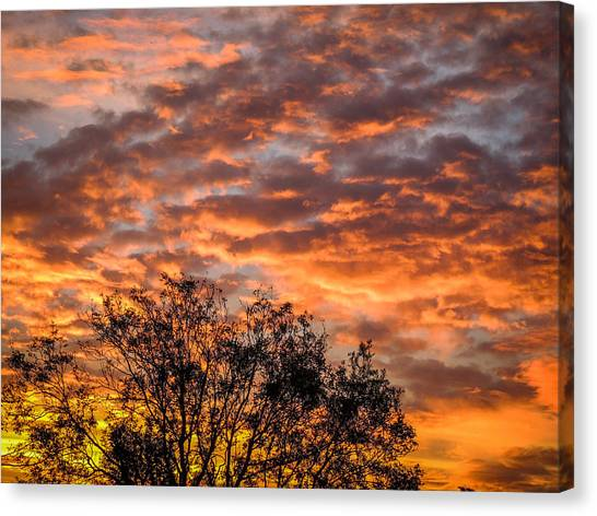 Fiery Sunrise Over County Clare Canvas Print