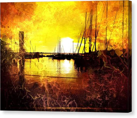 Fiery Sunset Canvas Print by Beth Williams