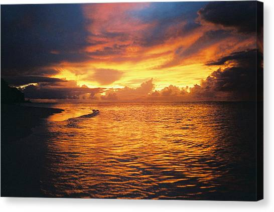 Canvas Print - Fiery Sunset by Christine Rivers