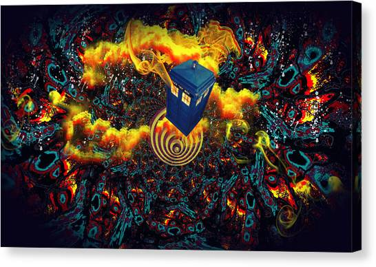 Fiery Time Vortex Canvas Print