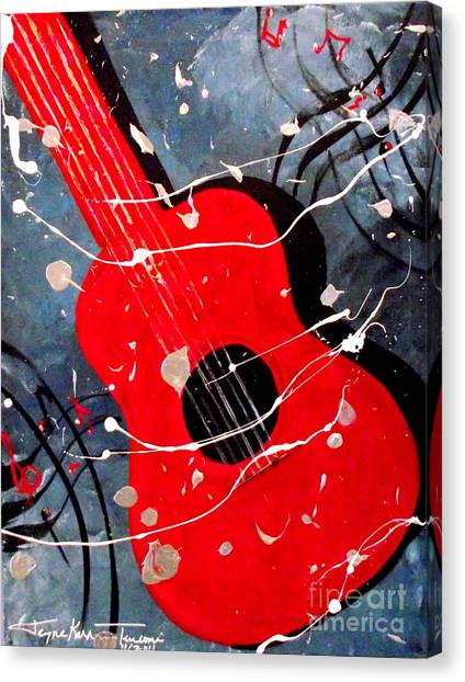 Classical Guitars Canvas Print - Fiesta by Jayne Kerr