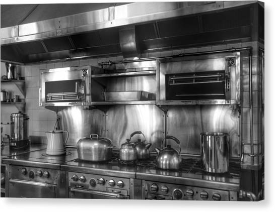 Fifties Kitchen Canvas Print by Kathi Isserman
