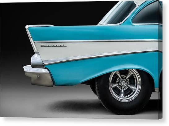 Chevy Canvas Print - Fifty-seven by Douglas Pittman