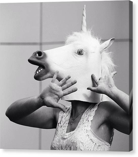 Unicorns Canvas Print - Fifty Shades Of Neigh #mcm by Joshua Winders