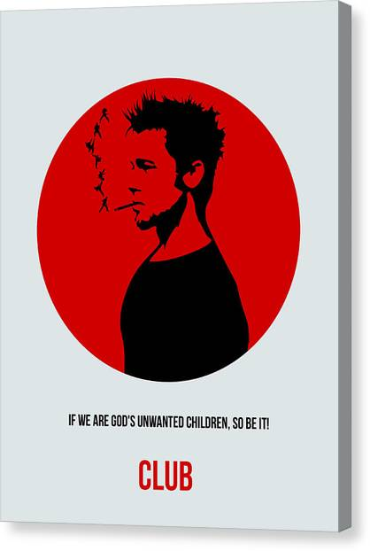 Fighting Canvas Print - Fight Club Poster 2 by Naxart Studio