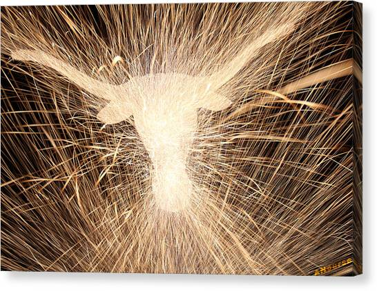 Sparklers Canvas Print - Fight Em by Andrew Nourse