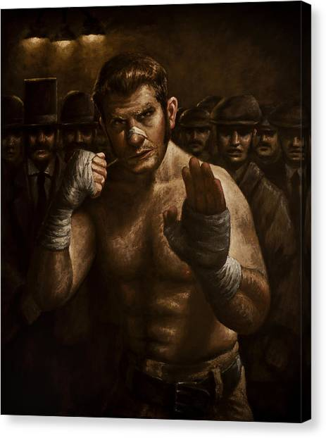 Mma Canvas Print - Fight by Mark Zelmer