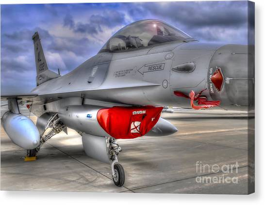 Fighting Falcon Canvas Print